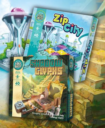 Logiquest: Shadow Glyphs (edycja polska) i Logiquest: Zip City (edycja polska)