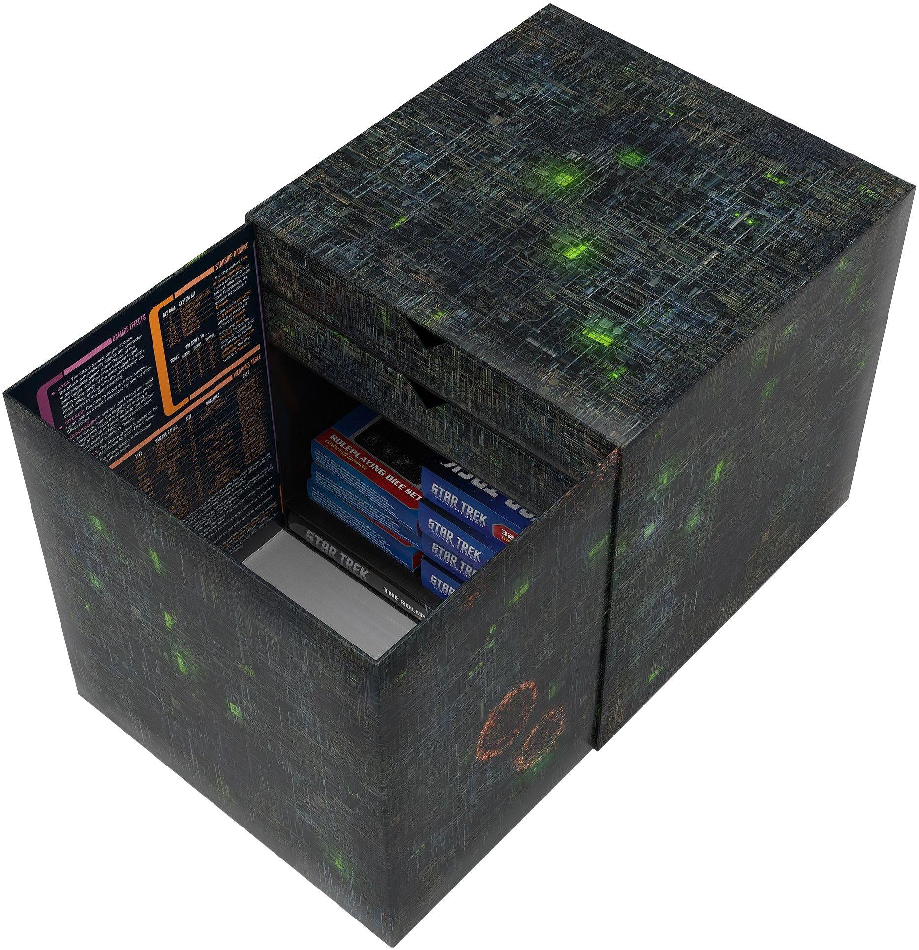 Borg Cube idealnie sprawdzi się do przechowywania wszystkich podręczników i akcesoriów