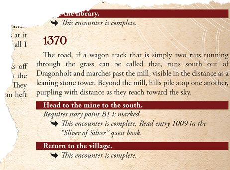 Fragment strony Księgi Przygody
