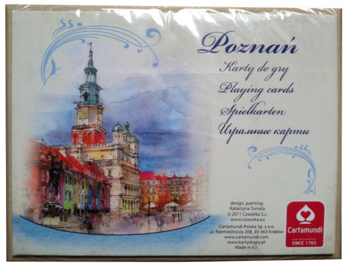 Karty Poznań akwarele 2 talie