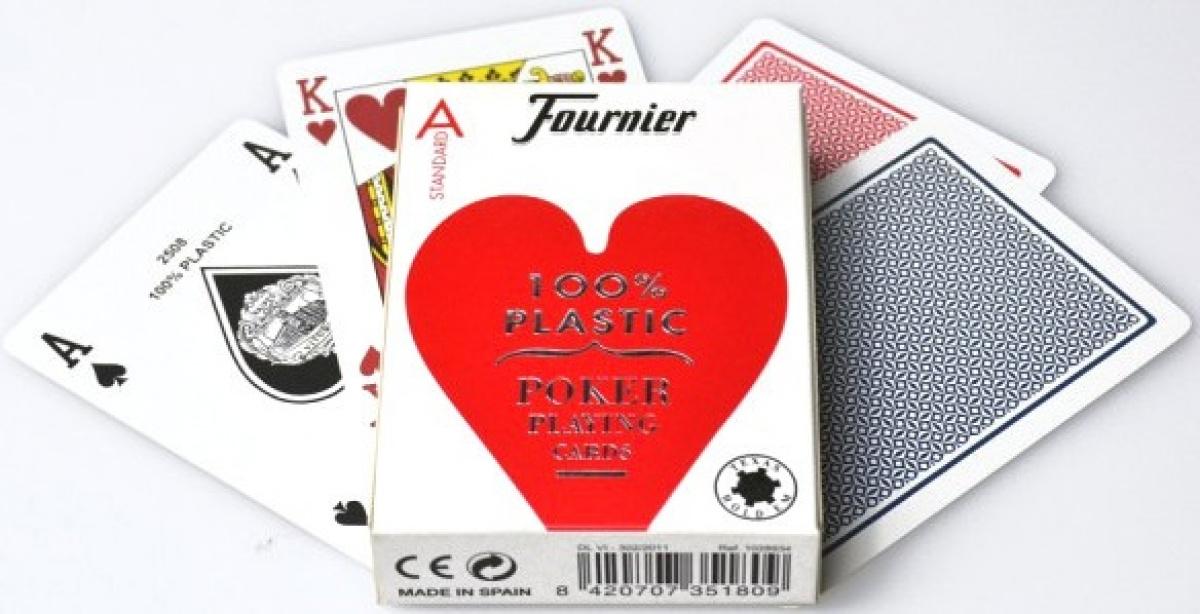 Fournier 100% Plastic Poker Standard Index