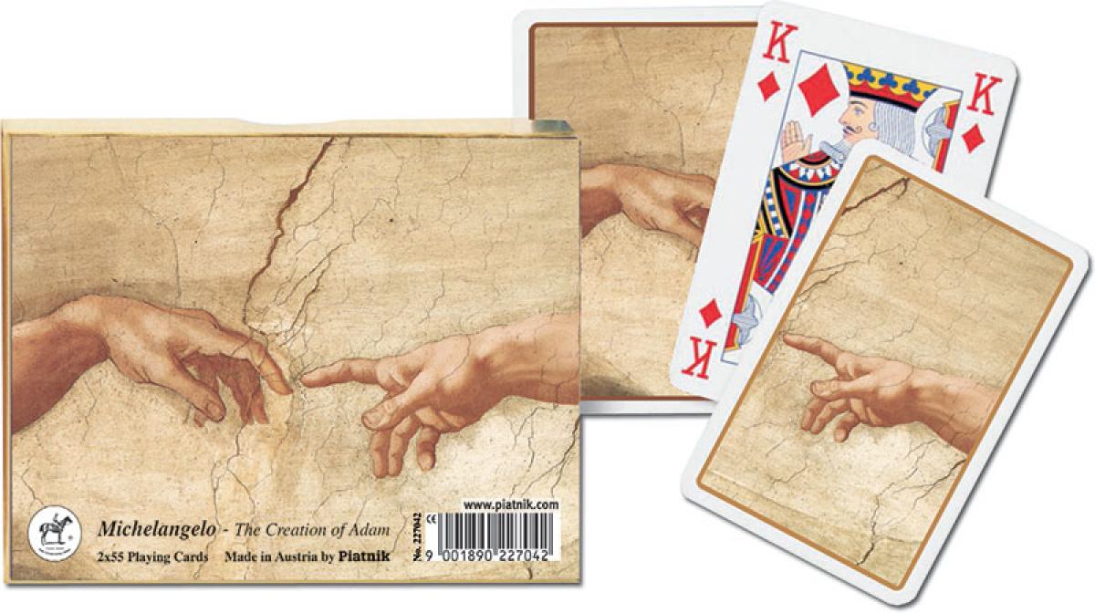 Karty 2 talie Lux - Michał Anioł - Stworzenie Adama