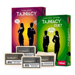 Pakiet językoznawcy: Tajniacy + Tajniacy Duet + 4 Minidodatki