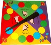 """Kolorowa tarcza """"zegara"""" - wielkość 30x30cm."""
