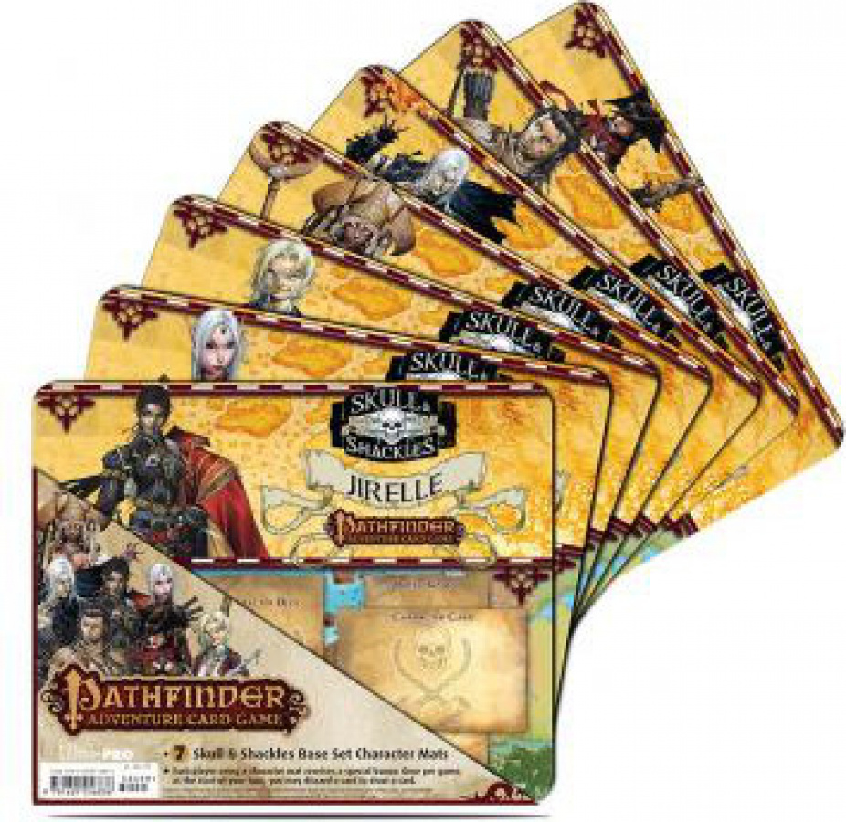 Pathfinder Adventure Card Game: 7 Character Mats - Skull & Shackles Base Set