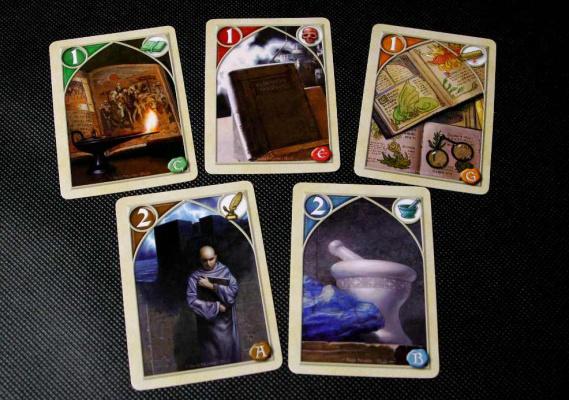 przykładowe karty w różnych kolorach