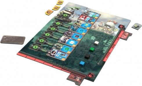 Plansza gracza z widocznym torem głębi (5 poziomów)
