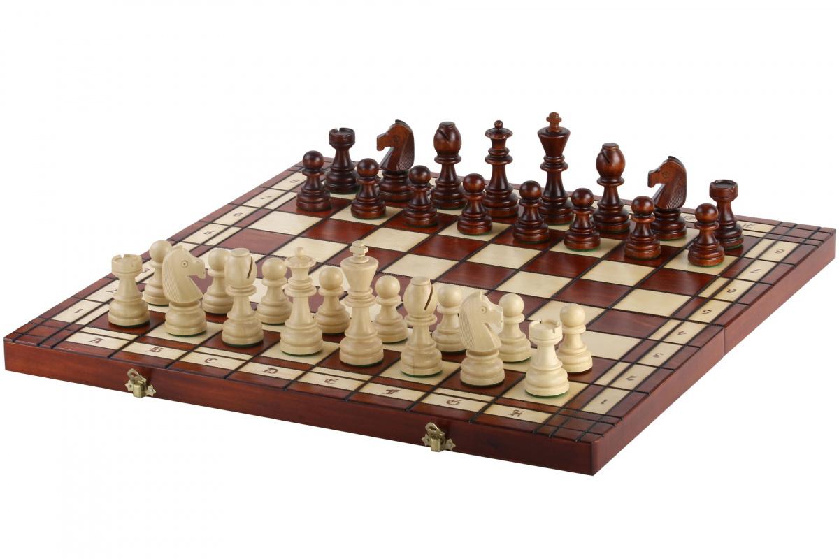 Drewniane Szachy Turniejowe #8 - Wypalane