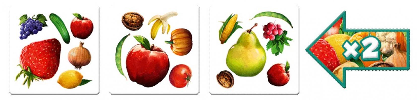 Podajemy wynik tak, jakby warzyw i owoców w tym rzędzie było 2 razy więcej! Tak działa strzałka leżąca stroną 'x2' ku górze :)