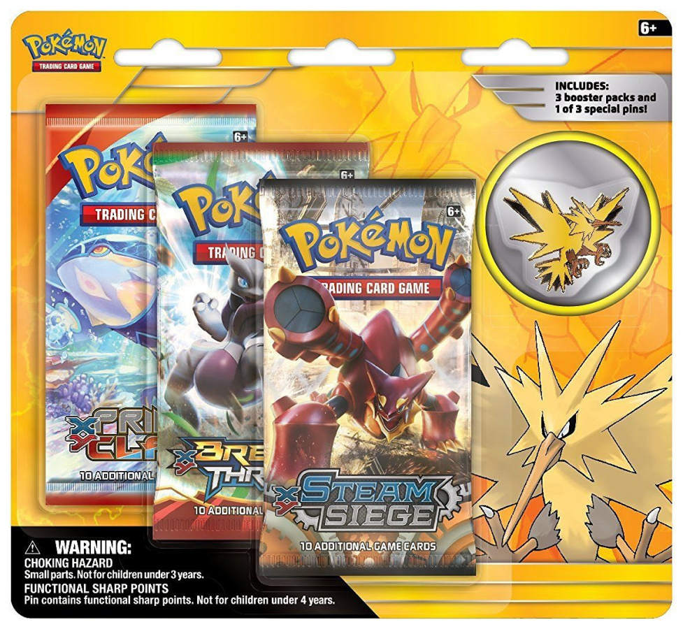 Pokemon EX: Zapdos - Legendarny Ptak z Kanto (przypinka)