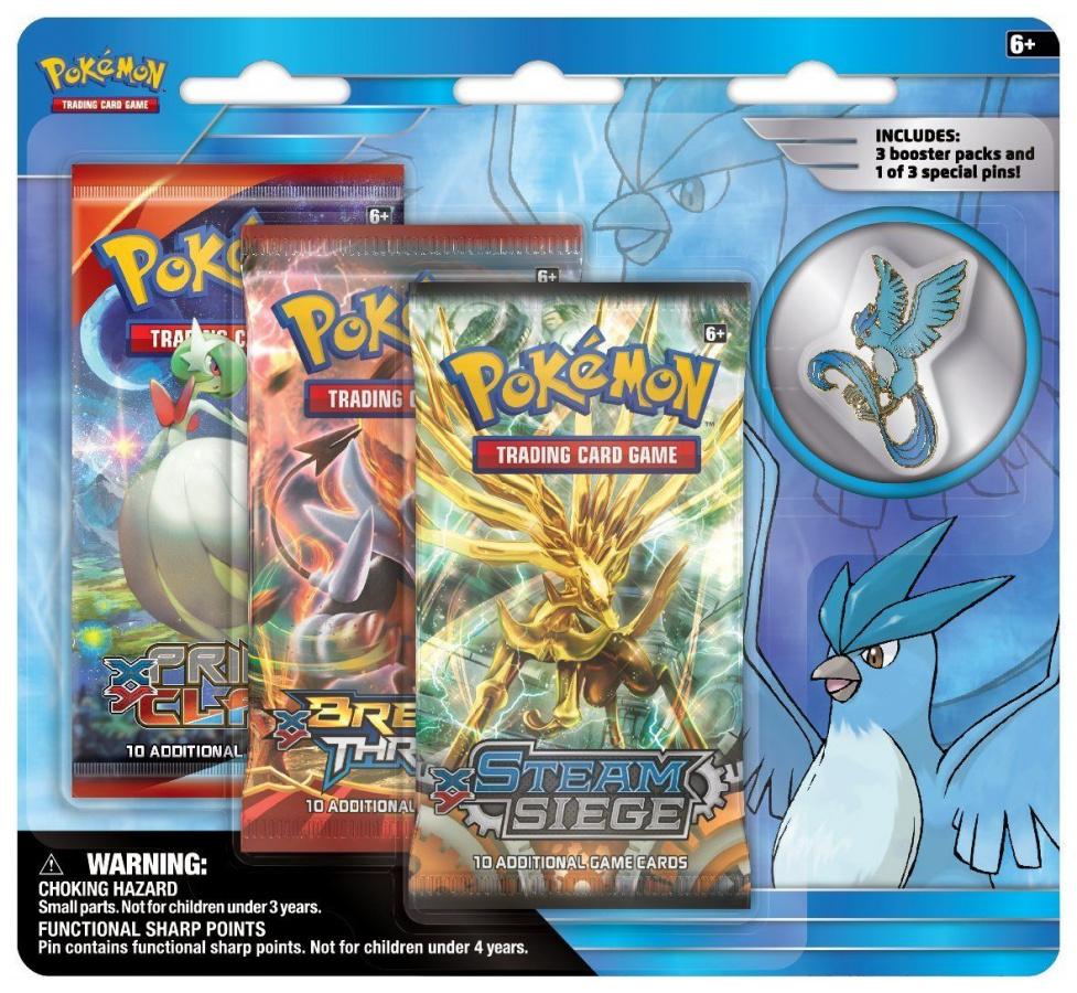 Pokemon EX: Articuno - Legendarny Ptak z Kanto (przypinka)