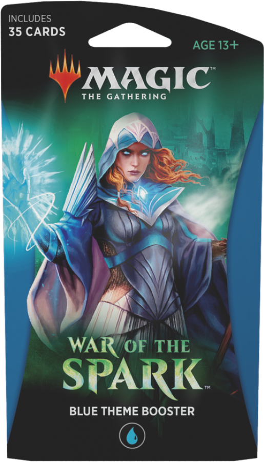 Magic The Gathering: War of the Spark - Blue Theme Booster