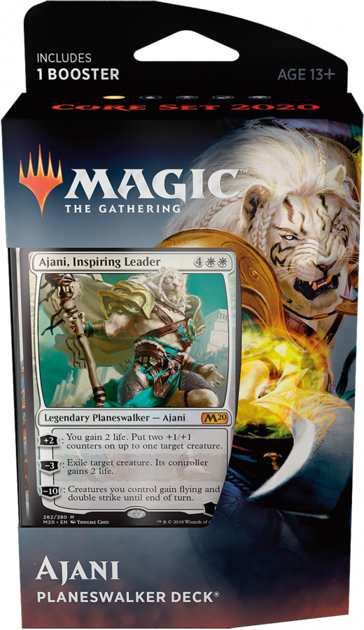 Magic The Gathering: Core Set 2020 - Planeswalker Deck - Ajani, Inspiring Leader