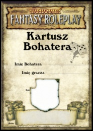 Warhammer FRP - Kartusz Bohatera