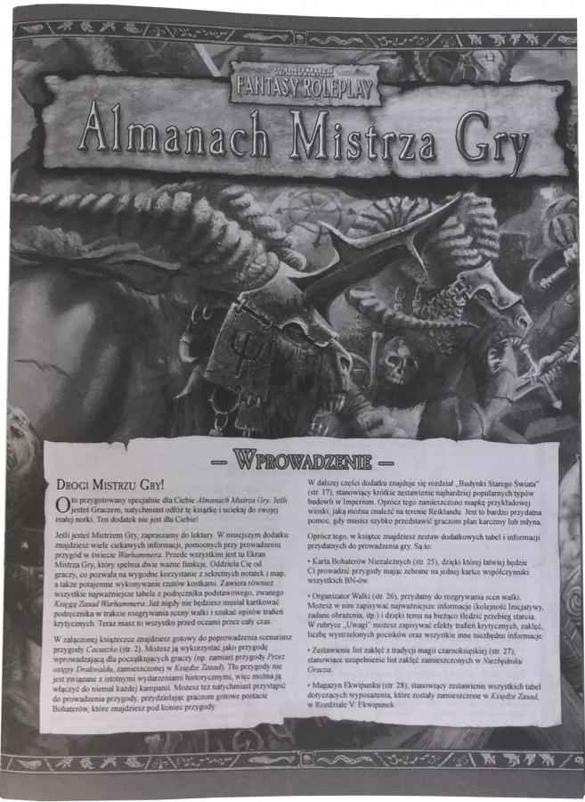 Warhammer FRP - Almanach Mistrza Gry