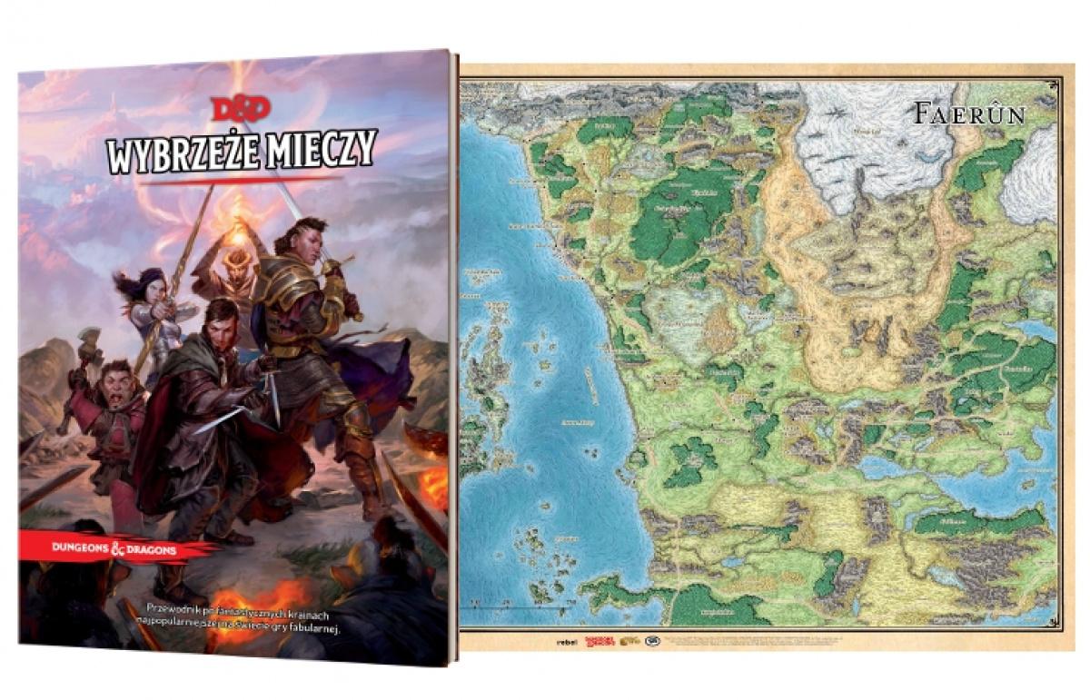 Pakiet: Dungeons & Dragons Wybrzeże Mieczy i Mapa Faerunu