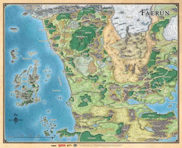 Dungeons & Dragons: Mapa Faerunu