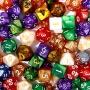 (Uzupełnienie) Kości REBEL perłowe RPG na sztuki