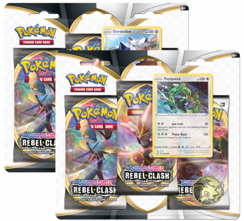Pokemon TCG: Rebel Clash - 3-pack Blister (Display 24 szt.)