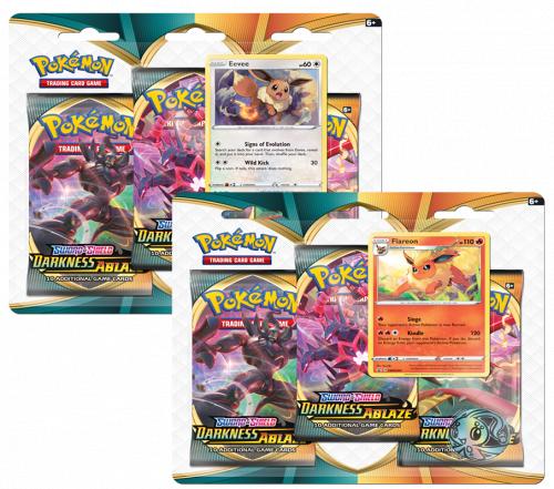 Pokemon TCG: Darkness Ablaze - 3-pack Blister (Display 24 szt.)