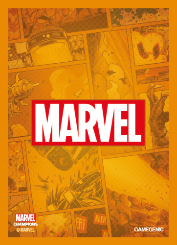 Gamegenic: MARVEL Art Sleeves (66 mm x 91 mm) Orange 50+1 szt.