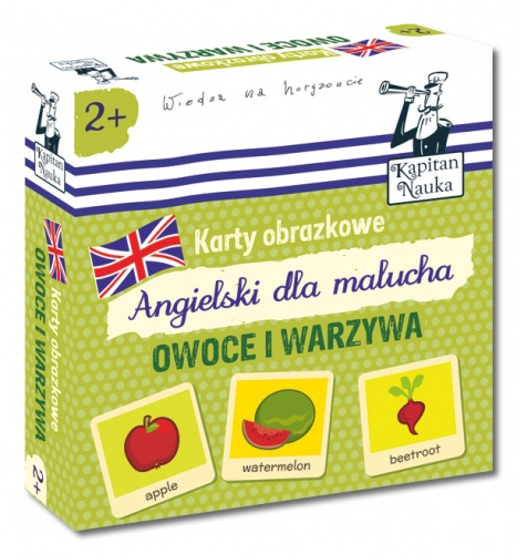 Karty obrazkowe - Angielski dla malucha - Owoce i warzywa