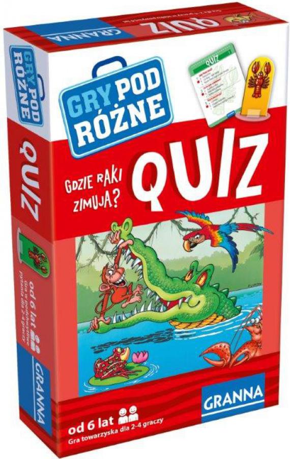Quiz: Gdzie raki zimują - gra podróżna