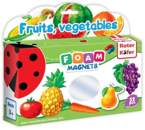 Foam Magnets: Fruits, vegetables