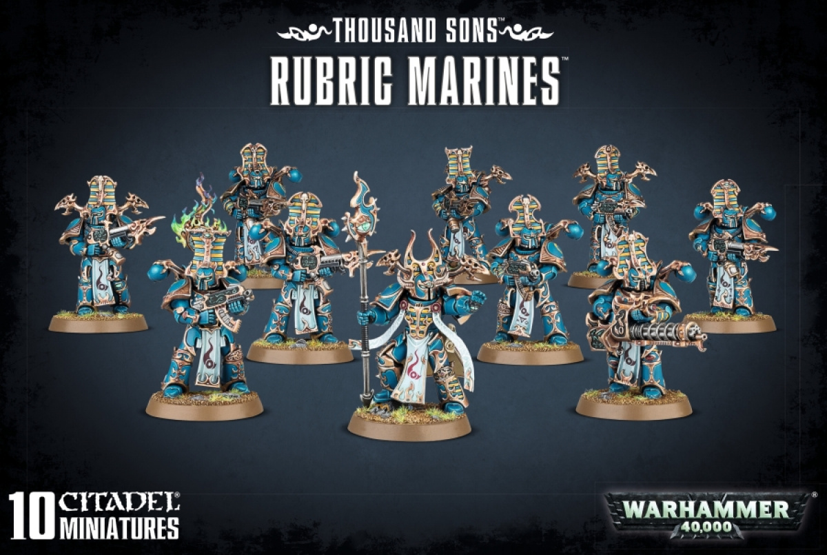 Warhammer 40,000 - Thousand Sons - Rubric Marines