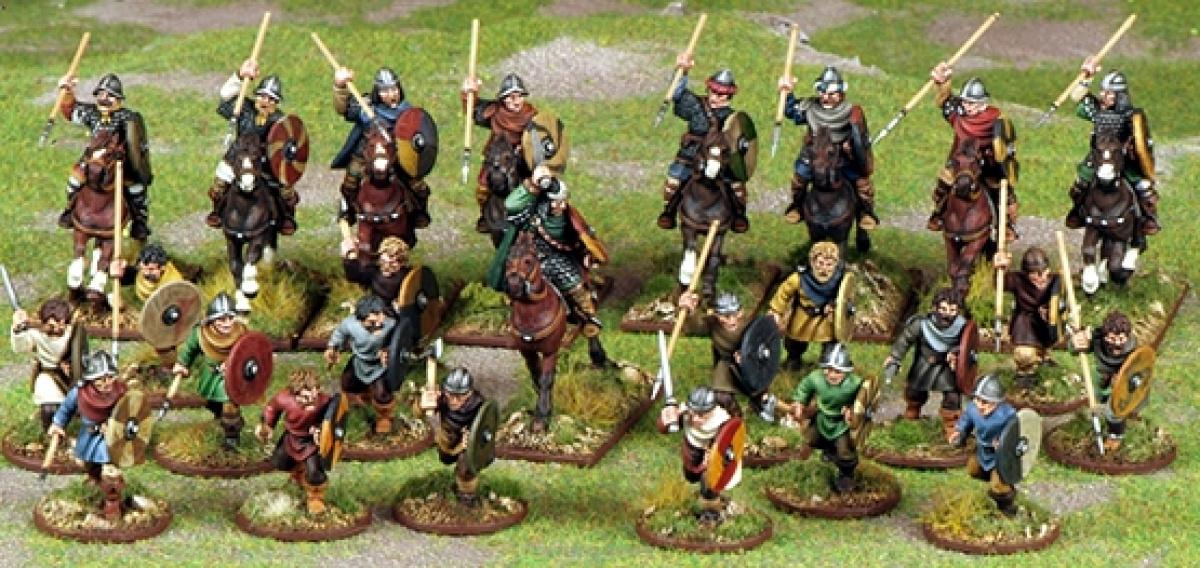 Saga: Dark Age Skirmishes - Carolingian Franks Warband (4 points)