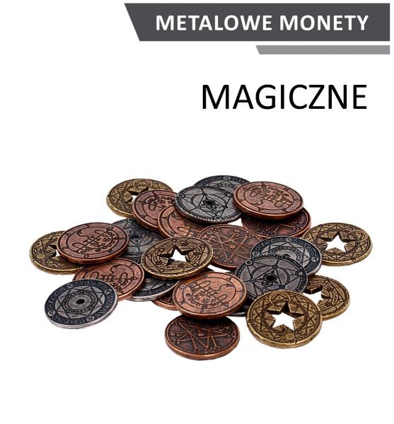 Metalowe monety - Magiczne (zestaw 24 monet)
