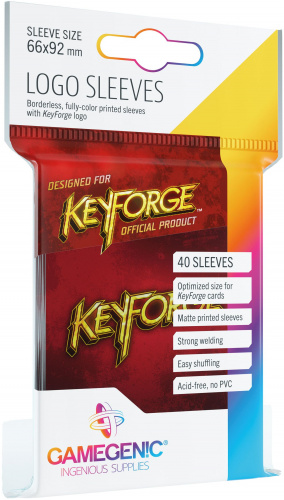 Gamegenic: KeyForge - Logo Sleeves Red