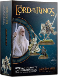 The Lord of the Rings: Middle-Earth Strategy Battle Game - Gandalf the White and Peregrin Took