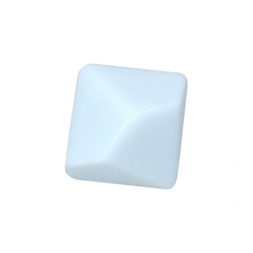 Kość REBEL matowa 10 Ścian - 16 mm - Bez symboli - Biała