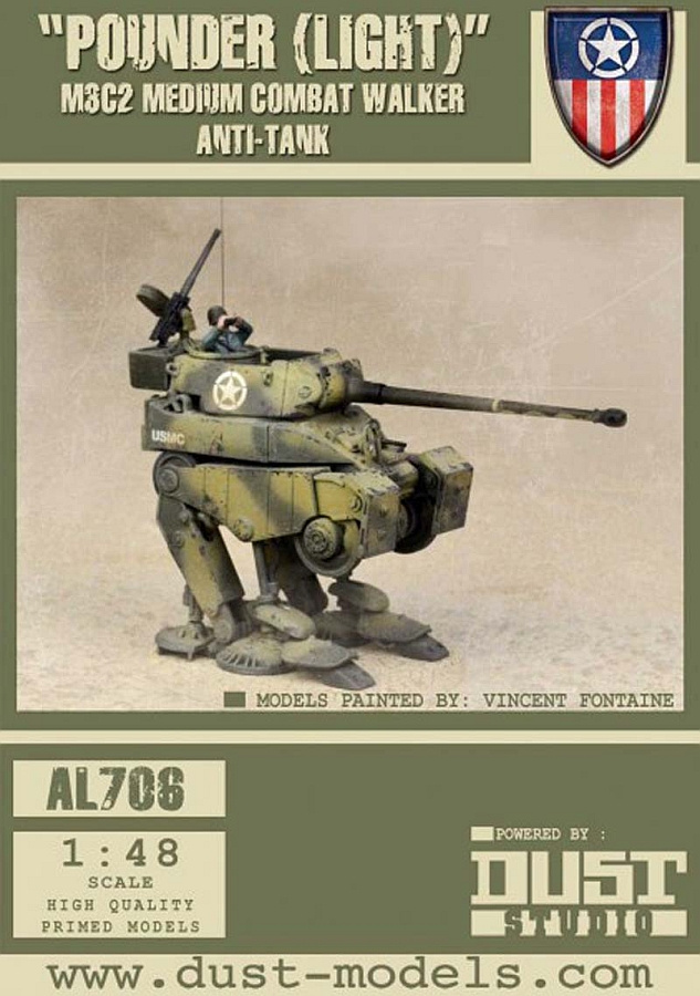 Dust Tactics: Pounder (Light) - M3C2 Medium Combat Walker Anti-Tank