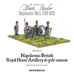 Black Powder: Napoleonic - British Royal Horse - Artillery 6 Pounder Cannon