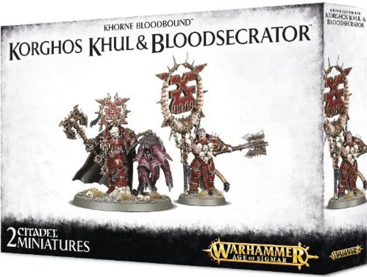 Warhammer Age of Sigmar - Khorne Bloodbound - Korghos Khul & Bloodsecrator