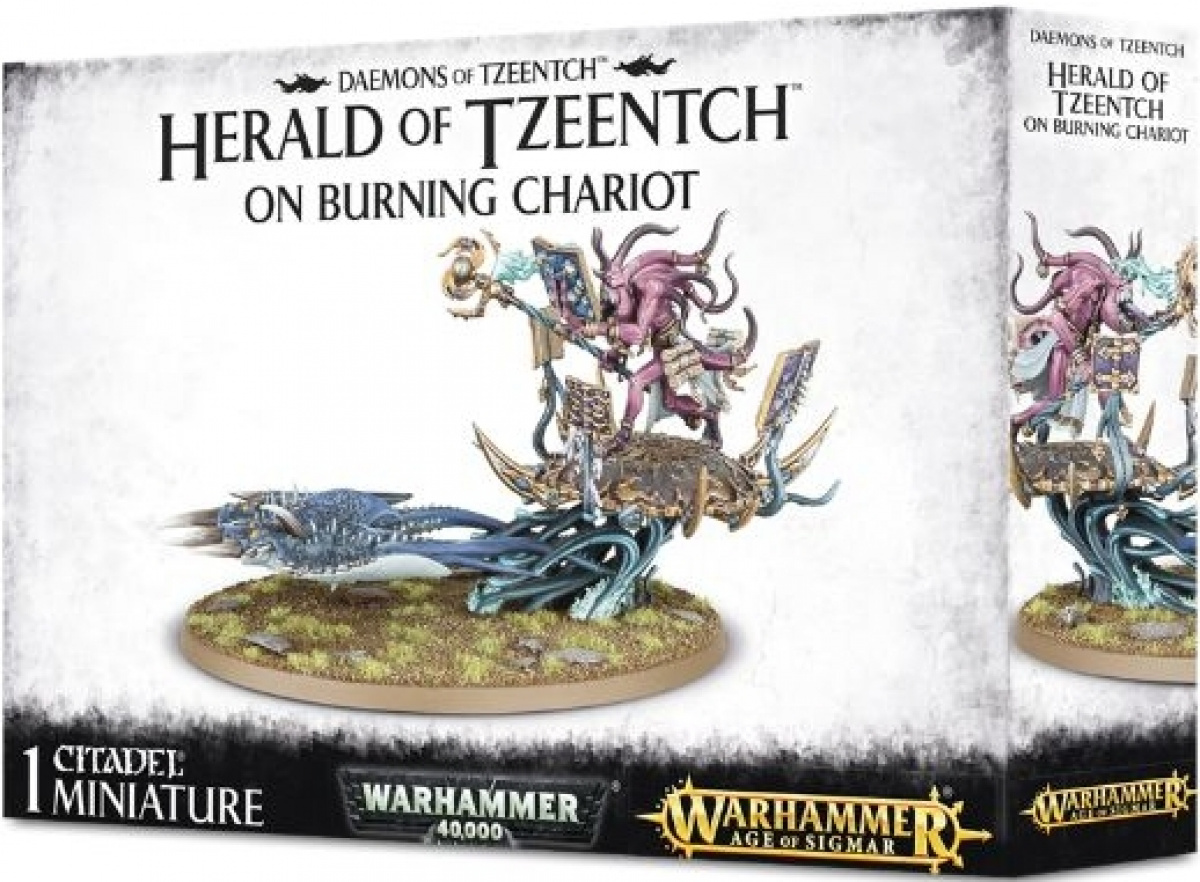 Daemons of Tzeentch - Herald of Tzeentch on Burning Chariot