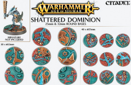 Warhammer Age of Sigmar - Shattered Dominion 25mm & 32mm Round Bases
