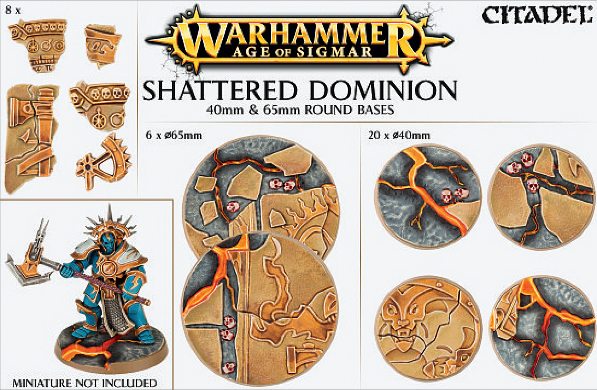 Age of Sigmar - Shattered Dominion 40mm & 65mm Round Bases