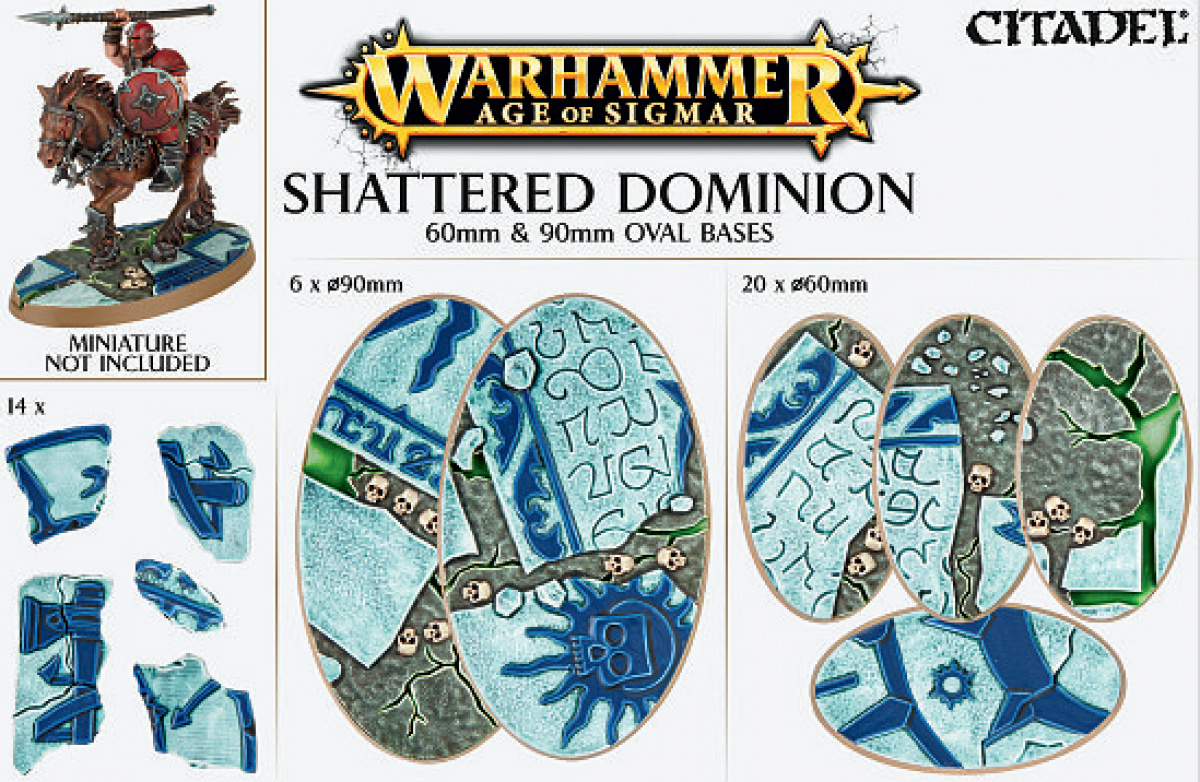 Warhammer Age of Sigmar - Shattered Dominion 60mm & 90mm Oval Bases