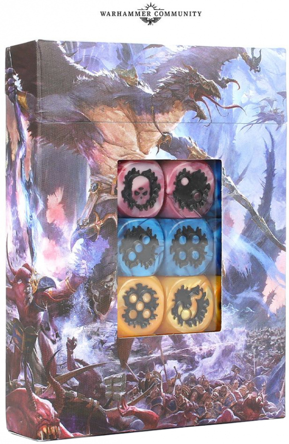 Warhammer Age of Sigmar: Disciples of Tzeentch Dice Set