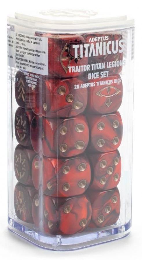 Adeptus Titanicus: Traitor Titan Legion Dice Set