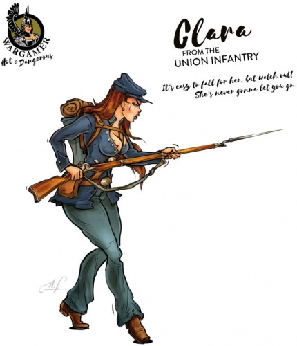 Hot & Dangerous: Clara from the Union Infantry (28 mm)