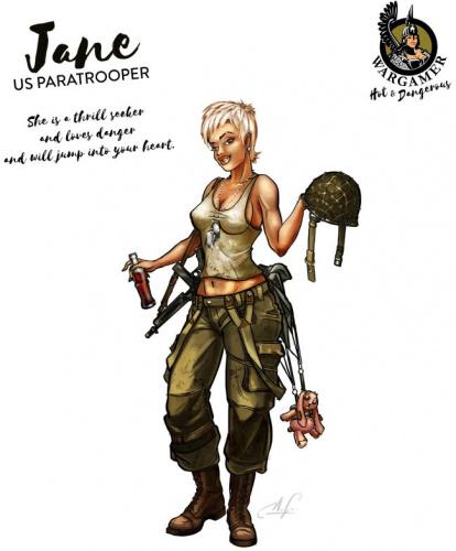 Hot & Dangerous: Jane, the US Paratrooper (54 mm)