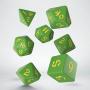 Komplet Kości Klasyczno Runicznych - Zielono-żółty