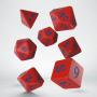 Komplet Kości Klasyczno Runicznych - Czerwono-niebieski