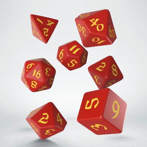 Komplet Kości Klasyczno Runicznych - Czerwono-żółty