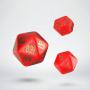 Komplet kości RuneQuest RPG: Czerwono-złoty - Dodatkowy