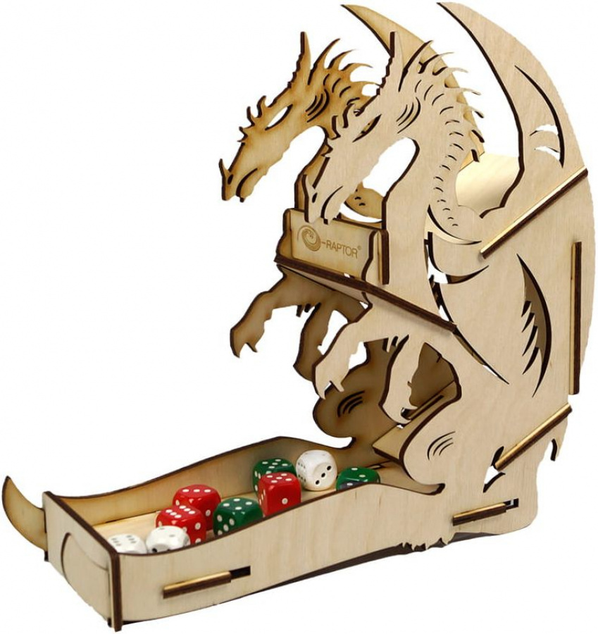 E-Raptor: Dice Tower - Dragon Wooden